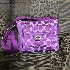 Coach Purple Small Purse W Front Pocket